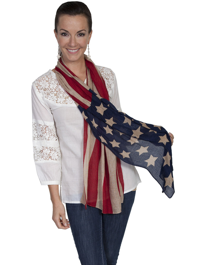 Honey Creek Collection Wrap: Flag Pattern One Size
