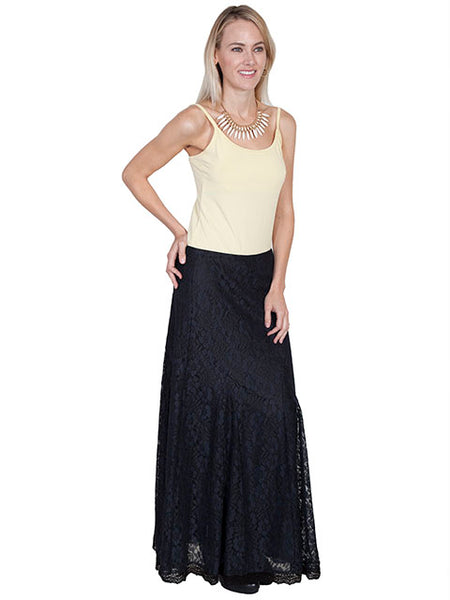 Scully Ladies' Honey Creek Maxi Lace Skirt with Tonal Lining Front