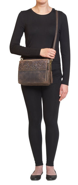 Concealed Carry Crossbody Shoulder Clutch Bag Front