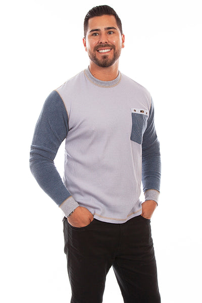 Scully Men's Farthest Point Thermal Sideline Icy Gray Front