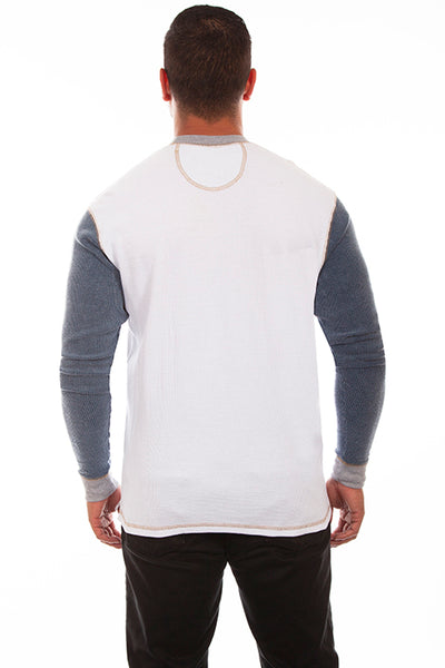 Scully Men's Farthest Point Thermal Sideline White Gray Front