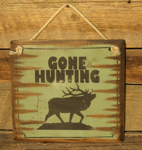 Western Wall Sign: Gone Hunting