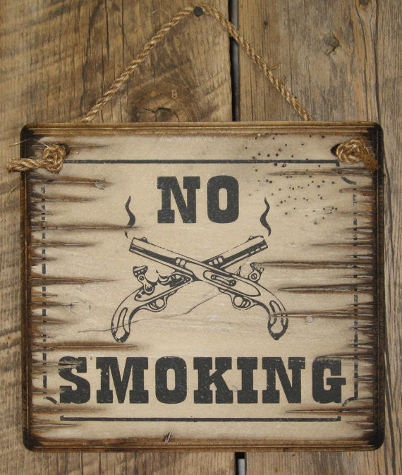 Western Wall Sign Business: No Smoking