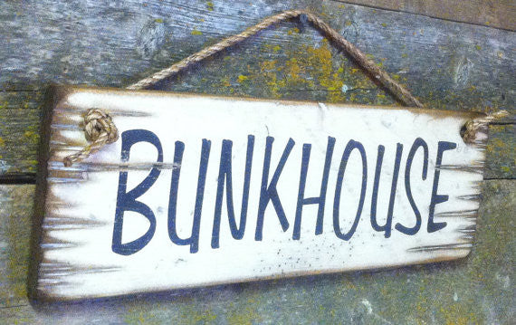 Western Wall Sign Barn: Bunkhouse Left Side