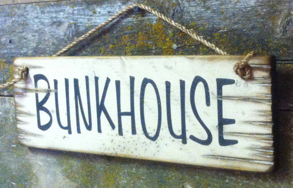 Western Wall Sign Barn: Bunkhouse Right Side