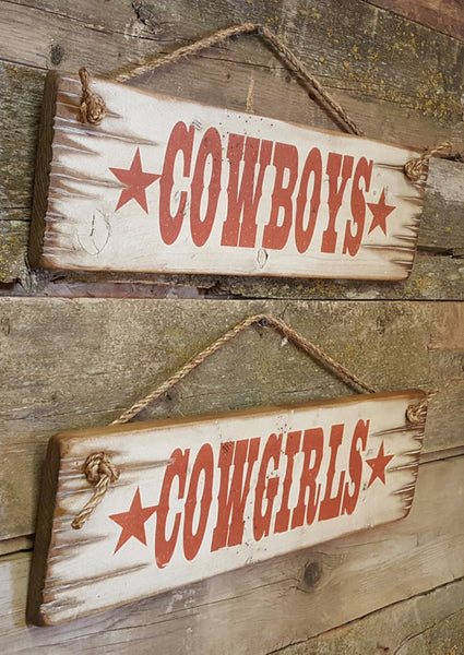 Western Wall Sign Business: Cowboys Cowgirls Set
