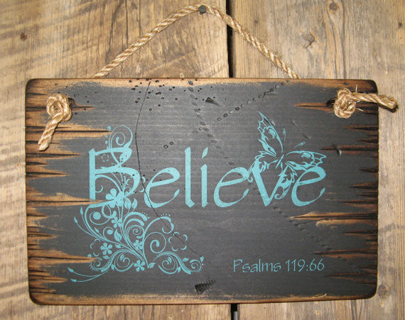 Western Wall Sign Fatih: Believe Black
