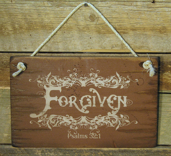 Wall Sign Faith: Forgiven