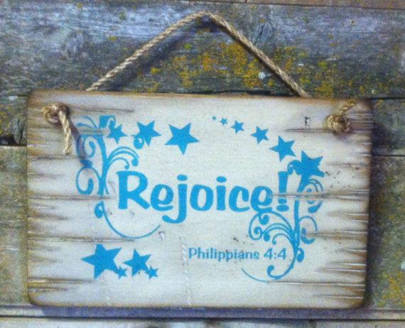 Wall Sign Faith: Rejoice