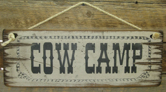 Western Wall Sign Barn: Cow Camp