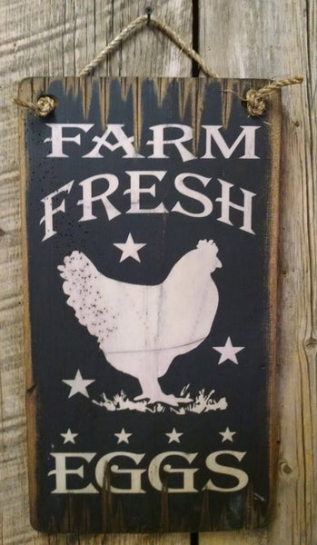Western Wall Sign Barn: Farm Fresh Eggs