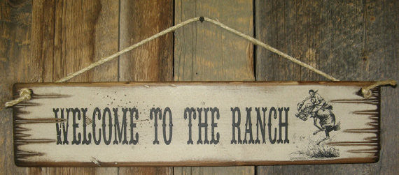 Western Wall Sign Home: Welcome To The Ranch