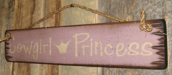 Western Wall Sign Home: Kids Cowgirl Princess Right View