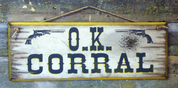 Western Wall Sign Movie: OK Corral