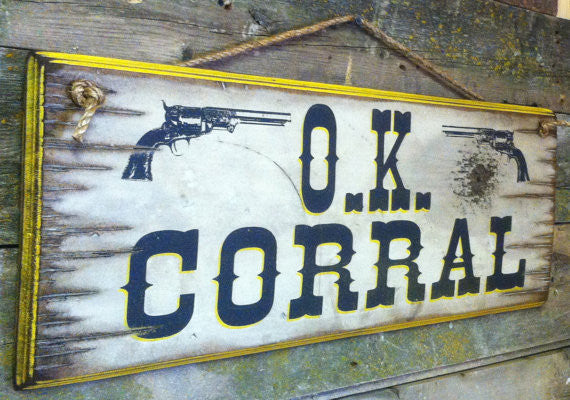 Western Wall Sign Movie: OK Corral Left View