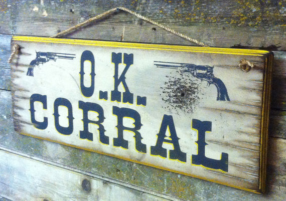 Western Wall Sign Movie: OK Corral Right View