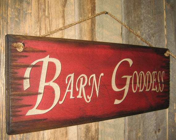 Western Wall Sign: Barn Goddess Left Side