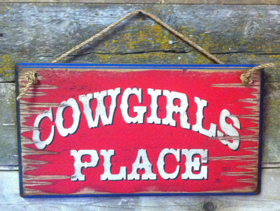 Western Wall Sign Home: Cowgirl's Place