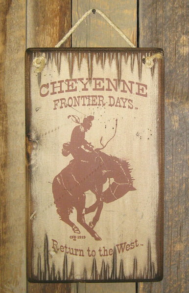 Western Wall Sign Rodeo: Cheyenne Frontier Days Return To The West