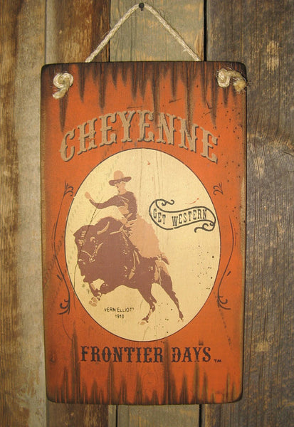 Western Wall Sign Rodeo: Cheyenne Buffalo Frontier Days