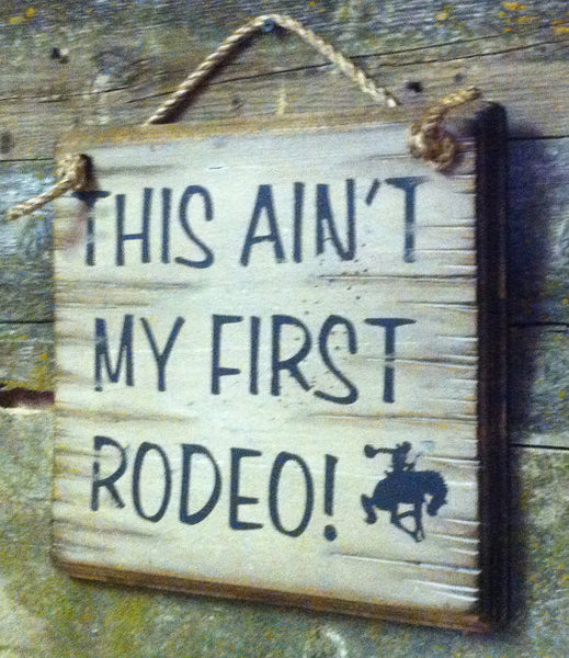 Wall Sign Advice: This Ain't My First Rodeo!