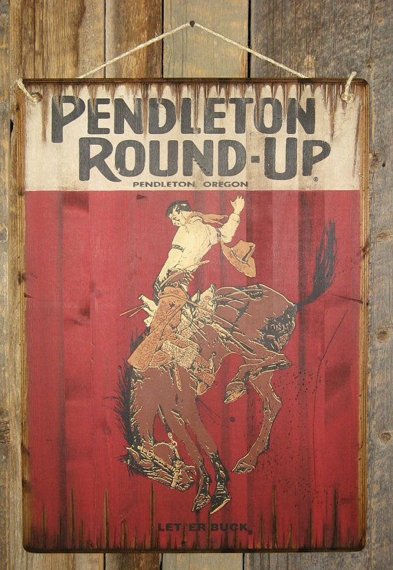Western Wall Sign Rodeo: Pendleton Round-Up