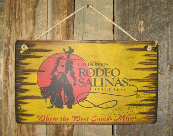 Western Wall Sign Rodeo: Rodeo California Salinas