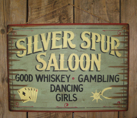 Western Wall Sign: Silver Spur Saloon