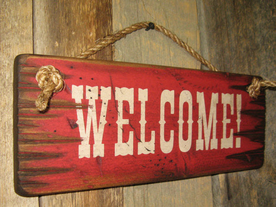 Wall Sign Business: Welcome! Left Side