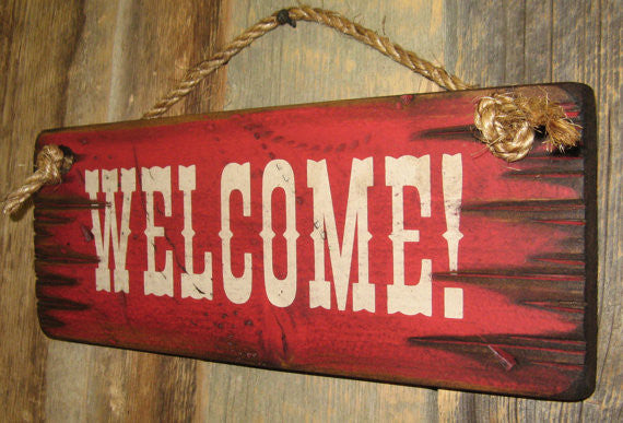 Wall Sign Business: Welcome! Right Side