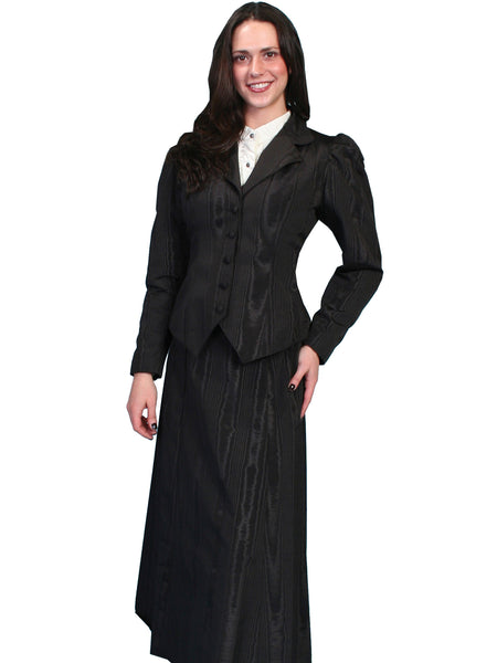 Scully Wahmaker Skirt: Elegant Victorian 5 Gore Walking Style Black