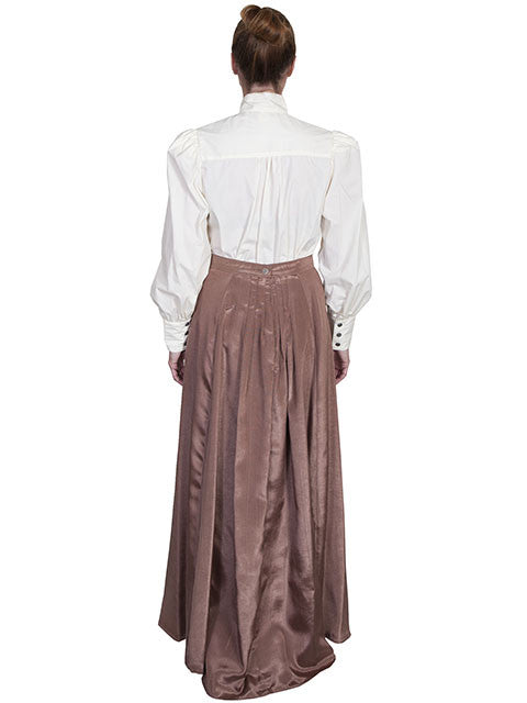 Scully Wahmaker Skirt: Elegant Victorian 5 Gore Walking Style Chocolate Back