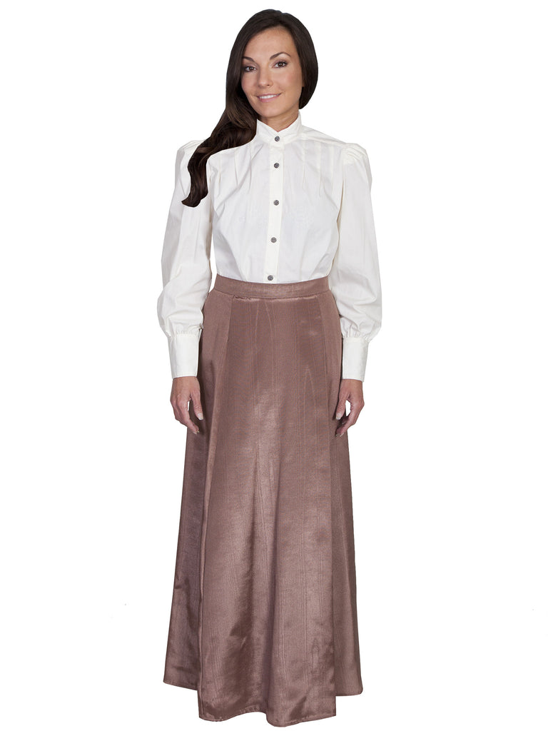 Scully Wahmaker Skirt: Elegant Victorian 5 Gore Walking Style Chocolate