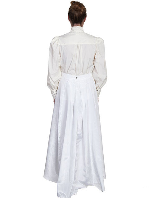 Scully Wahmaker Skirt: Elegant Victorian 5 Gore Walking Style Natural Back