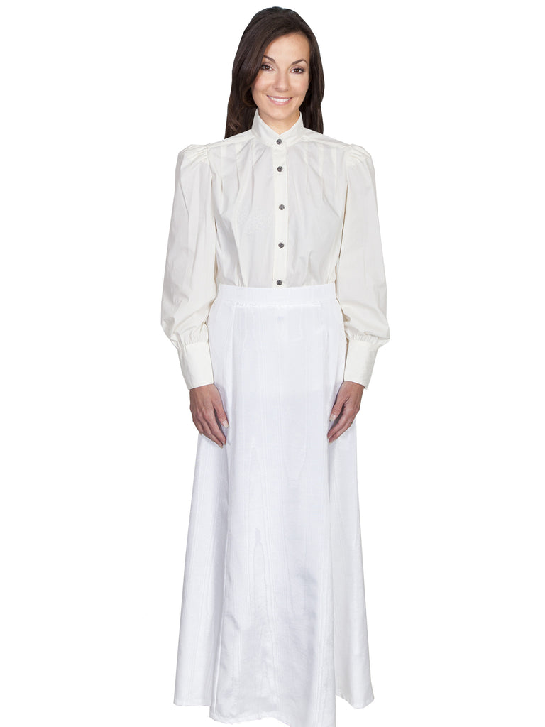 Scully Wahmaker Skirt: Elegant Victorian 5 Gore Walking Style Natural