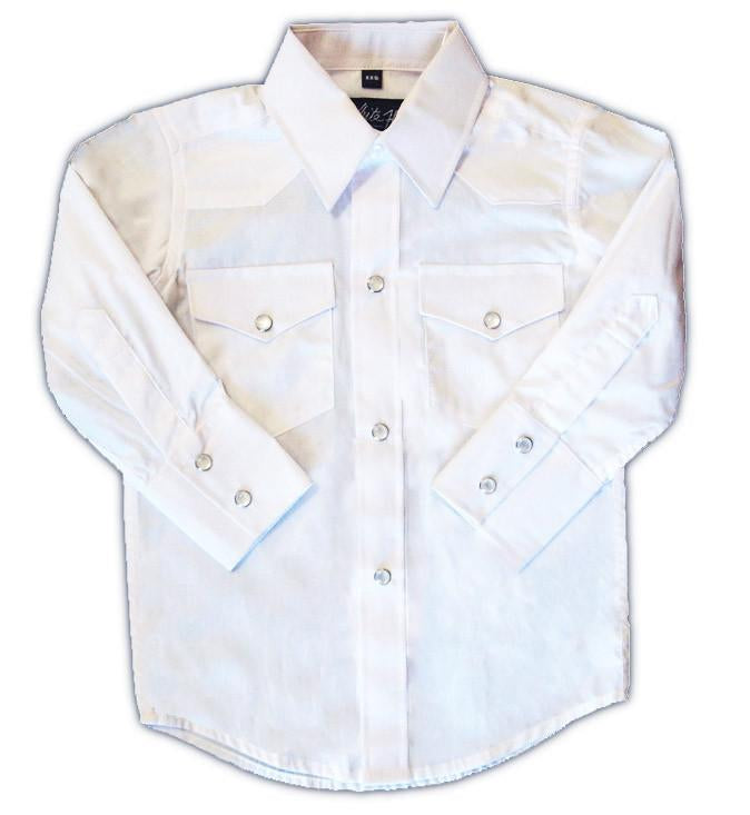 White Horse Apparel Men's Western Shirt Solid White