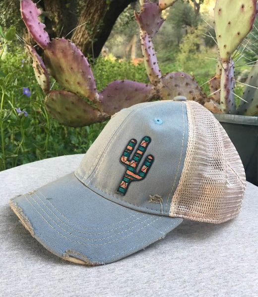 Original Cowgirl Clothing Cap: Southwest Cactus