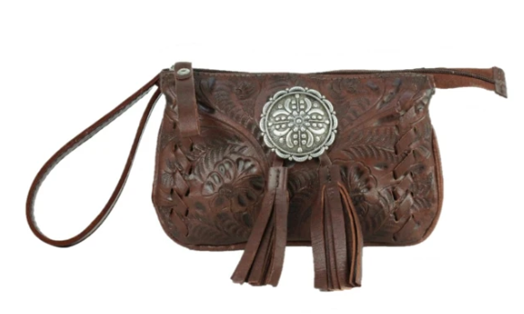 American West Lariats & Lace Collection Stadium Event Bag Dark Brown