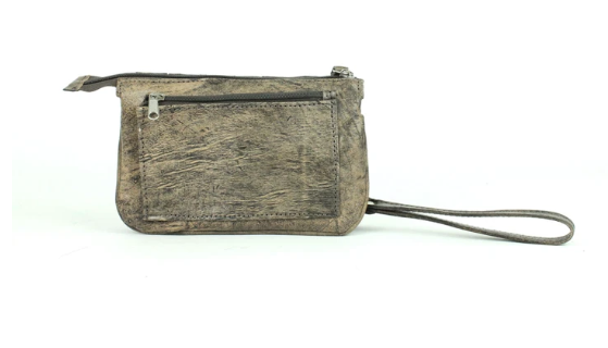 American West Lariats & Lace Collection Stadium Event Bag Distressed Charcoal Back
