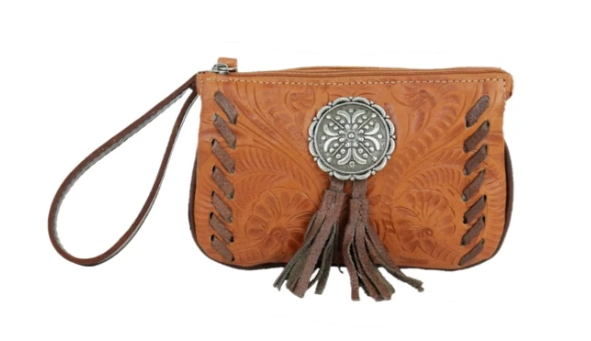 American West Lariats & Lace Collection Stadium Event Bag Tan