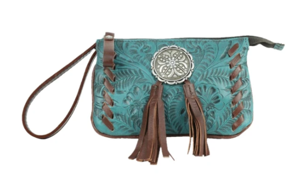 American West Lariats & Lace Collection Stadium Event Bag Dark Turquoise