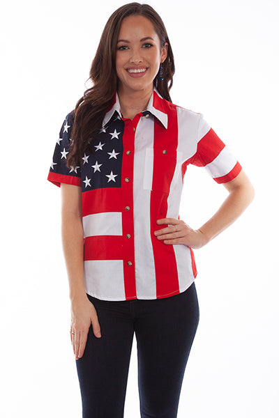 Scully Ladies' Patriotic Shirt Front #719890