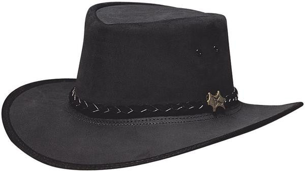 ea102411927 ... Suede  Safari Outback Stockman. Conner Handmade Hats Western Stockman  Leather Cowboy Style Black ...