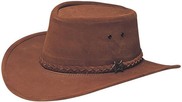 Conner Handmade Hats Stockman Western Suede Brown