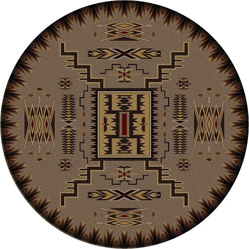 American Dakota Voices Collection Storm Catcher Round Area Rugs