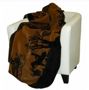 Denali Blankets Sunset Cowboys Throw Blanket Front