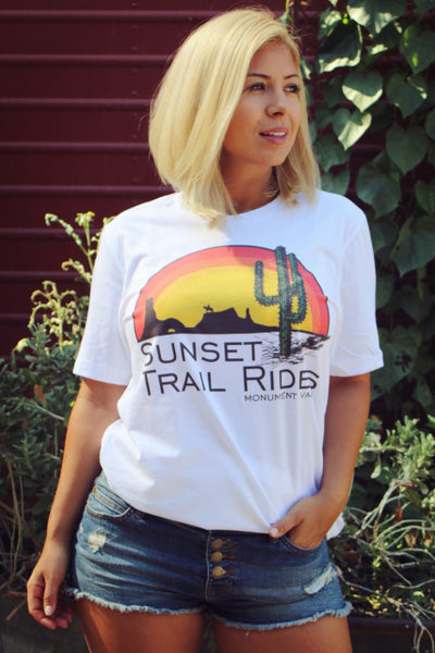 Original Cowgirl Clothing T-Shirt Sunset Trail Rides