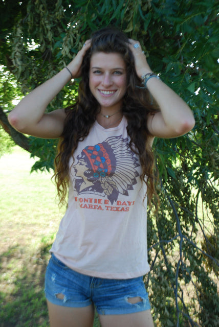 Original Cowgirl Clothing Ladies' Tank Frontier Marfa Texas