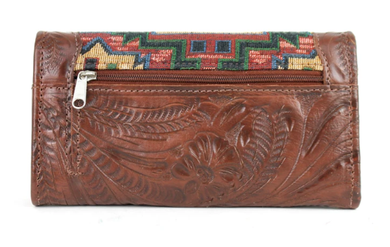 American West Bella Beau Collection Tri-Fold Wallet Back