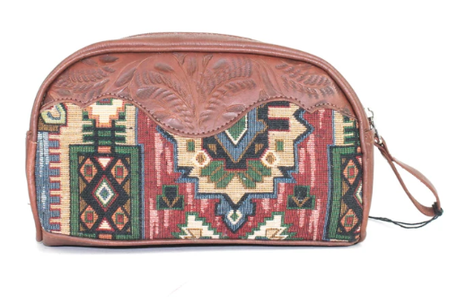 American West Bella Beau Tapestry Cosmetic Case Back